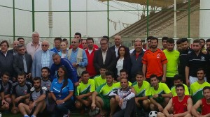 The participating teams, the technical directors and the president and members of the Saida Municipal Council